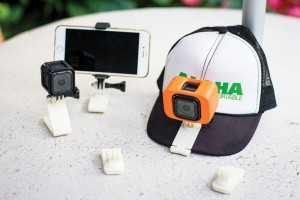 The Menehune Hat Clip solves some of the problems that Buddy Leong noticed in an existing GoPro camera clip. Photo: Karen DeBorja